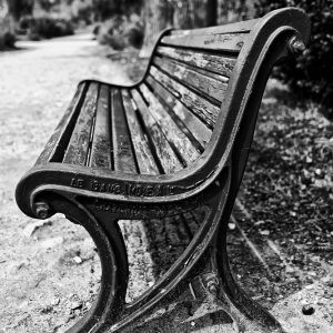 Old photo of park bench Le Banc Ideal