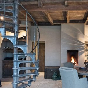 Spiral Staircase In Dutch Home Spiral Staircase Style Modern Rustic ...