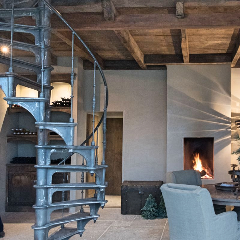 Spiral Staircase Style Modern Rustic