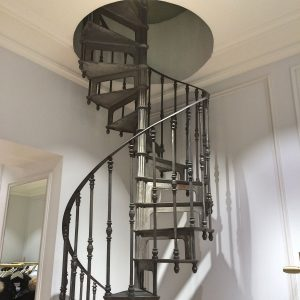 Mirecourt French Cast Iron Spiral Stairs