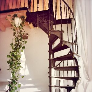 Vintage antique spiral staircase