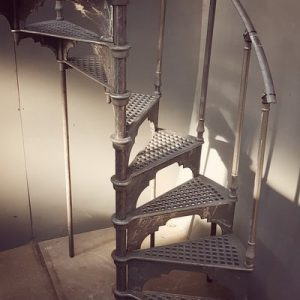Antique metal spiral staircase