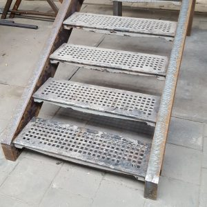 Cast iron industrial staircase treads