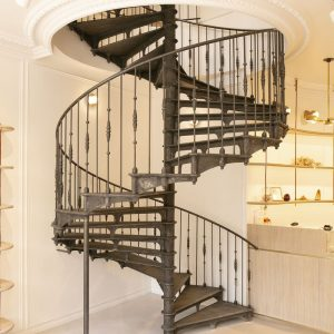 Spiral staircase Grand Paris Bobbies Paris