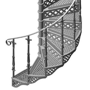 Design of the staircase, model Tours