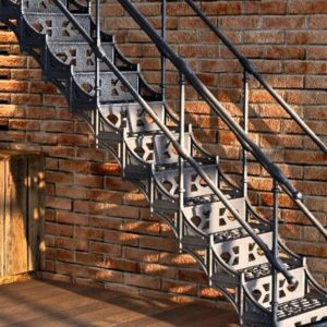 Cast iron straight staircase Lille